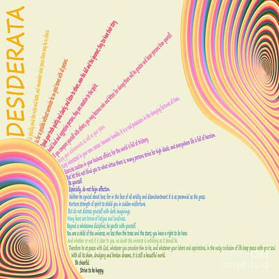 Digital Art - Desiderata 25 by Wendy Wilton