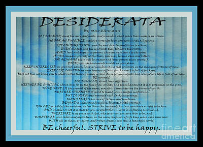 Digital Art - Desiderata 29 by Wendy Wilton