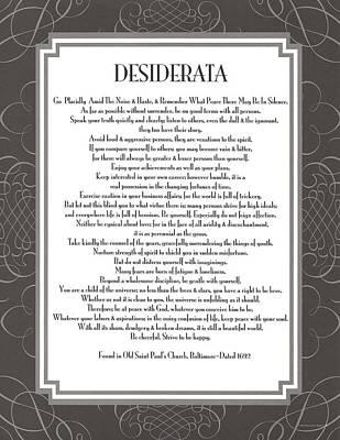 Desiderata 5 Art Print by Desiderata Gallery