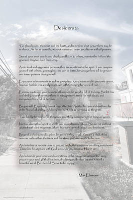 Photograph - Desiderata At Kismet by Judy Hall-Folde