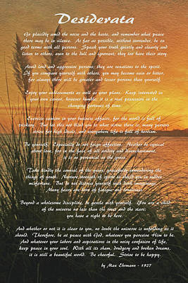 Photograph - Desiderata - Go Placidly by HH Photography of Florida