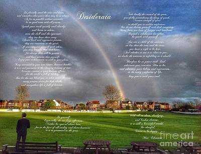 Photograph - Desiderata by Joan-Violet Stretch