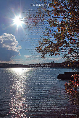 Autumn Photograph - Desiderata by Joann Vitali