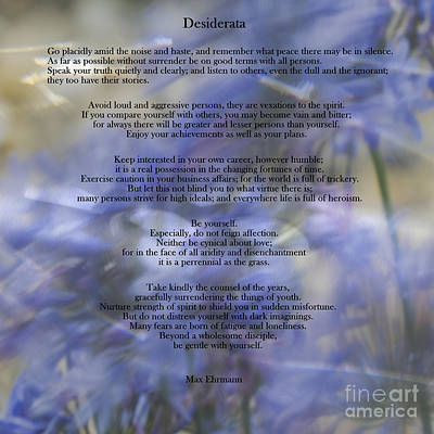 Digital Art - Desiderata Poem - Art 3 #42 by Ella Kaye Dickey