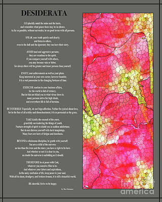 Digital Art - Desiderata Poem With Artwork By Claudia Ellis  by Claudia Ellis