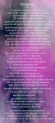 Digital Art - Desiderata - Purple1 by Ericamaxine Price