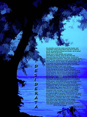Photograph - Desiderata Simply Blue Lake Sunset by Aimee L Maher ALM GALLERY