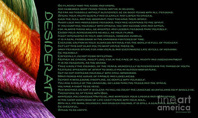 Photograph - Desiderata 21 by Wendy Wilton
