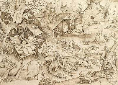 Desidia  Art Print by Pieter Bruegel the Elder