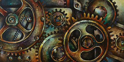 Mechanical Painting - Design 2 by Michael Lang