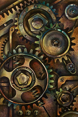 Mechanical Painting - Design 3 by Michael Lang