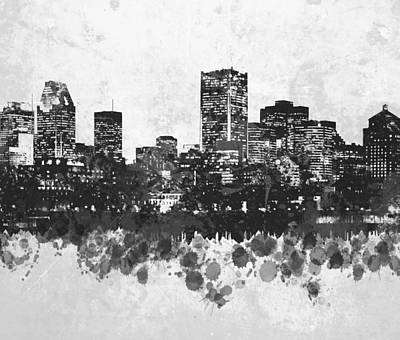 Montreal Cityscapes Mixed Media - Design 47 by Lucie Dumas
