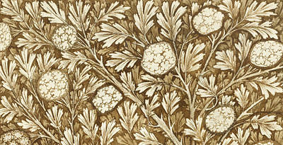 Morris Painting - Design For A Foliage Background by William Morris