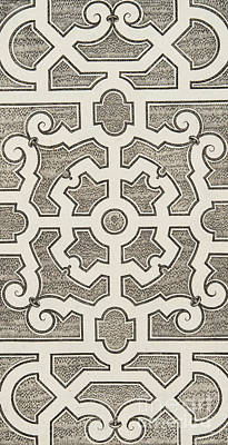 Maze Drawing - Design For Parterre, From Theatre Des Plans Et Jardinages by Andre Mollet