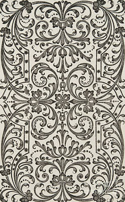 Repeat Drawing - Design For Parterre by Jacques Mollet