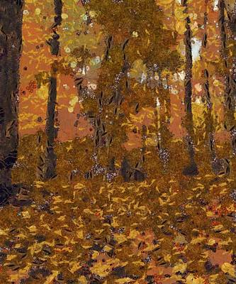 Forest Floor Painting - Design Of Autumn by Dan Sproul