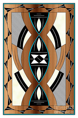Digital Art - Southwest Collection - Design Two In Blue by Tim Hightower