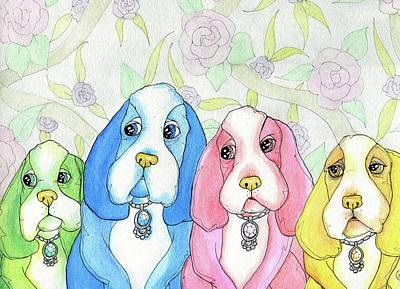 Painting - Designer Dogs by Julie McDoniel