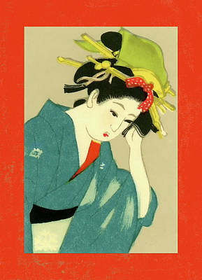 Mixed Media - Designer Series Japanese Matchbox Label 126 by Carol Leigh