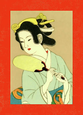 Mixed Media - Designer Series Japanese Matchbox Label 130 by Carol Leigh