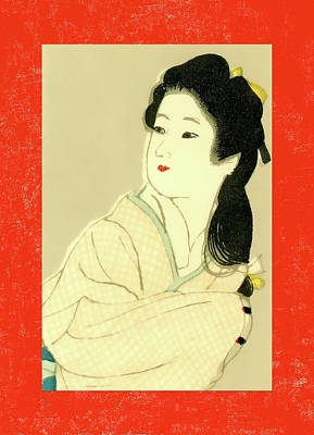 Mixed Media - Designer Series Japanese Matchbox Label 132 by Carol Leigh