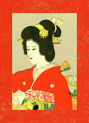 Mixed Media - Designer Series Japanese Matchbox Label 133 by Carol Leigh