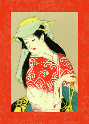 Mixed Media - Designer Series Japanese Matchbox Label 135 by Carol Leigh