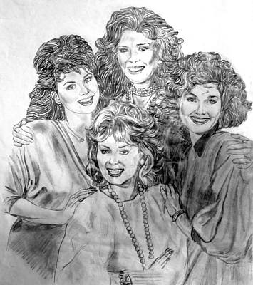 Drawing - Designing Women by Bryan Bustard