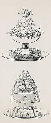 Pineapple Drawing - Designs By Antoine Careme by Marie Antoine Careme