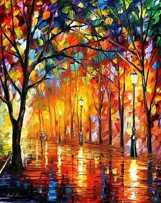 Desirable Moments - Palette Knife Oil Painting On Canvas By Leonid Afremov Art Print