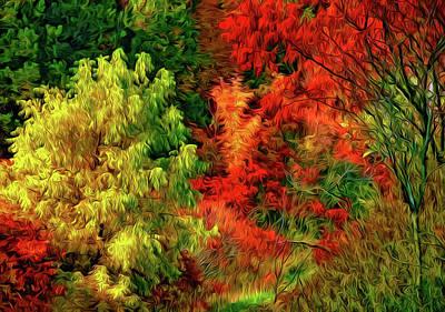 Sumac Tree Photograph - Desire - Paint by Steve Harrington