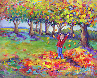 Hurrah For Fall By Peggy Johnson Art Print by Peggy Johnson