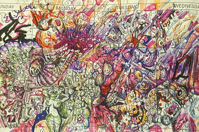 Drawing - Desktop Calender Doodle by Steven Holder