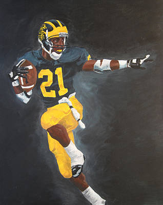 Football Painting - Desmond Heisman by Travis Day