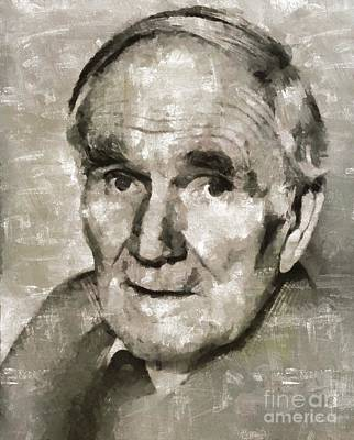 Elvis Presley Painting - Desmond Llewelyn, Actor by Mary Bassett