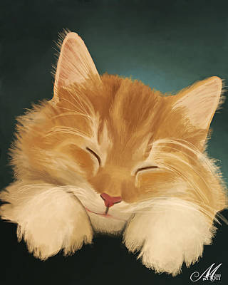 Orange Tabby Digital Art - Desmond by Marion Sipe