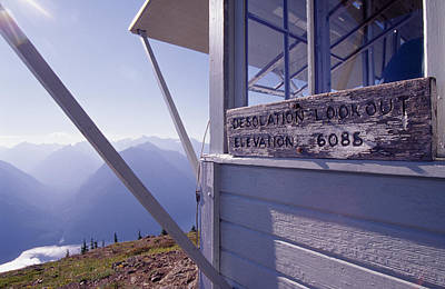 Kerouac Photograph - Desolation Peak Fire Lookout Cabin Sign by David Pluth