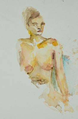Painting - Desolving Nude by Rachel Rose