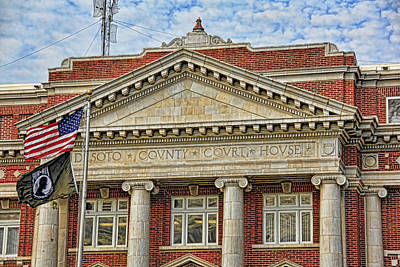 Photograph - Desoto County Courthouse 2 by HH Photography of Florida