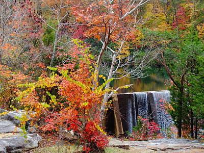 Photograph - Desoto Falls - Fall - Ft Payne Al by Deborah Lacoste