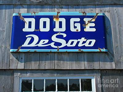 Window Signs Mixed Media - Desoto Sign by John Malone