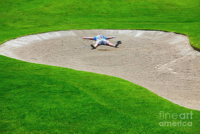 Photograph - Desperate Golfer by Mats Silvan