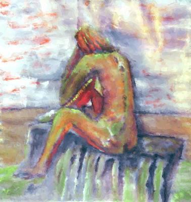 Despondent Art Print by Shelley Bain
