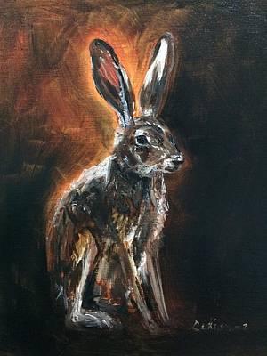 Desert Jackrabbit Painting - Dessert Hare by Ladianne Henderson
