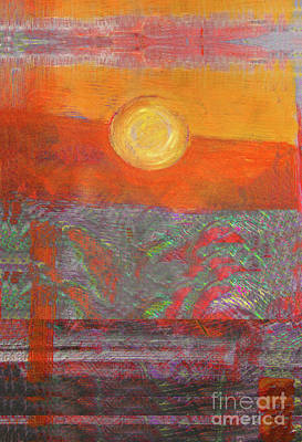 Painting - Dessert Sun by Lydia L Kramer