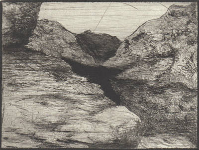 Drawing - Dester Chasm by Erik Paul