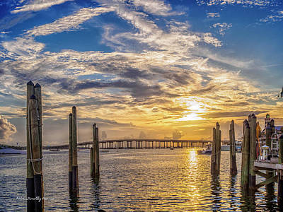 Destin Harbor #1 Art Print