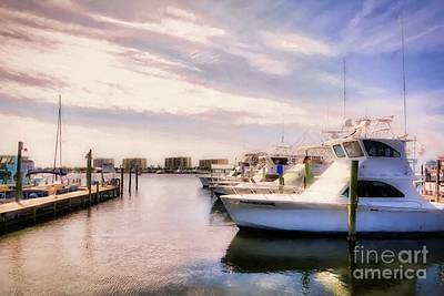 Art Print featuring the photograph Destin Harbor Daydreams by Mel Steinhauer