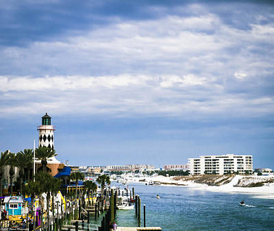 Photograph - Destin Harbor  by Debra Forand
