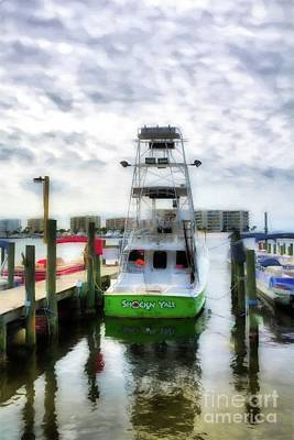 Art Print featuring the photograph Destin Harbor Marina by Mel Steinhauer